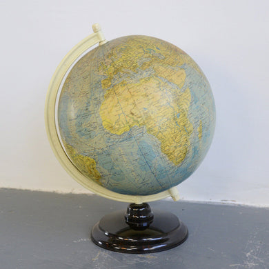 Large Mid Century German Desk Globe-2
