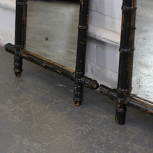 Load image into Gallery viewer, Pair Of Ebonised Faux Bamboo Mirrors Circa 1900 - B
