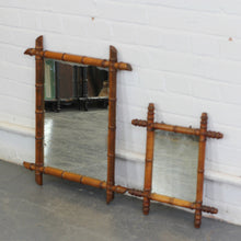 Load image into Gallery viewer, Pair Of Faux Bamboo Mirrors Circa 1900