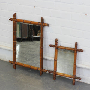 Pair Of Faux Bamboo Mirrors Circa 1900