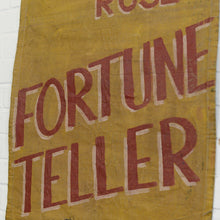Load image into Gallery viewer, Canvas Fortune Teller Sideshow Banner Circa 1950s