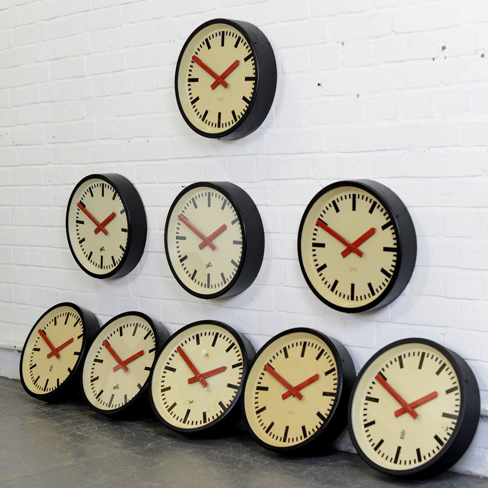 East German Paper Factory Clocks Circa 1960s