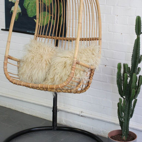 1950s Mid Century French Rattan Swing Chair