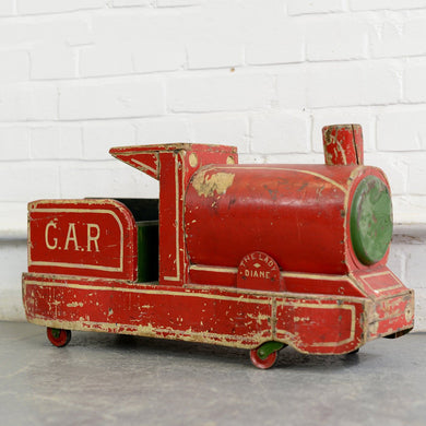 Large English Scratch Built Toy Train Circa 1950s