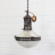 Load image into Gallery viewer, Holophane Pendant Light Circa 1910