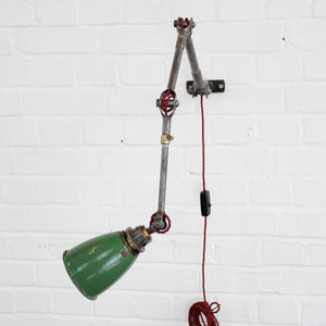 1930s Wall Mounted Industrial Task Lamp By Dugdills