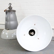 Load image into Gallery viewer, 1930s Oversized French Industrial Pendant Lights