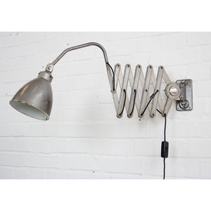1930s Large Industrial Scissor Lamp By Agi