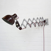 Load image into Gallery viewer, 1950s East German Industrial Scissor Lamp By Reif