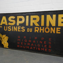 Load image into Gallery viewer, Early C20th French Hand Painted Aspirine Sign