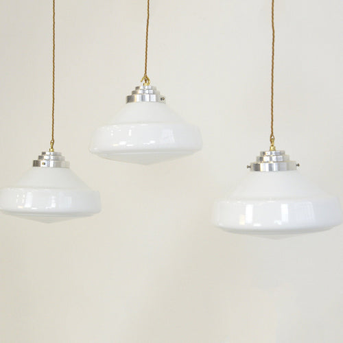 Art Deco Opaline Lights Circa 1930s