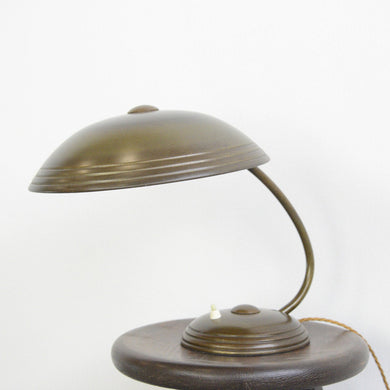 Brass Table Lamp By Helo Circa 1940s