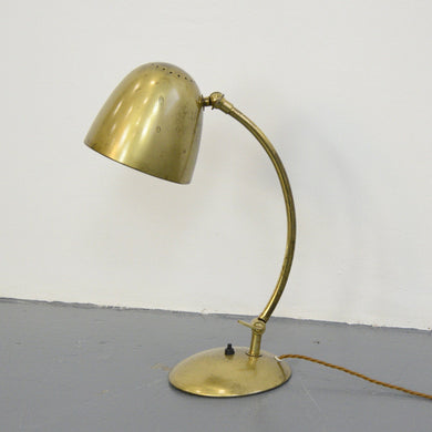 Brass Table Lamp By Hillebrand Circa 1930s