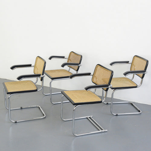 Cantilever Cesca Chairs By Marcel Breuer Circa 1950s