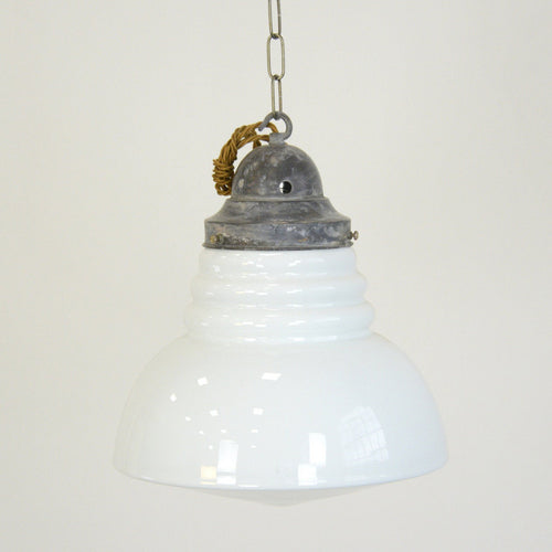Decorative Art Deco Opaline Pendant light Circa 1930s