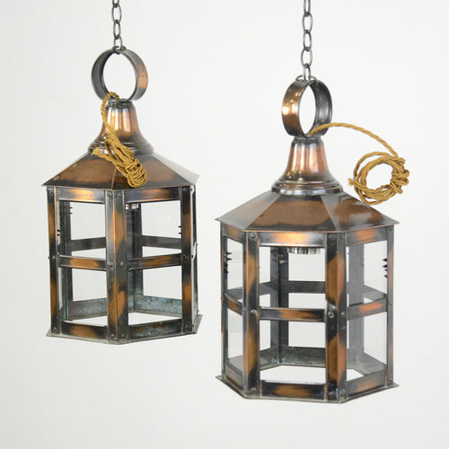 English Copper Flash Lanterns Circa 1910
