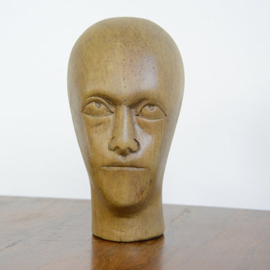 German Carved Wooden Milliners Head Circa 1910(AO1277)