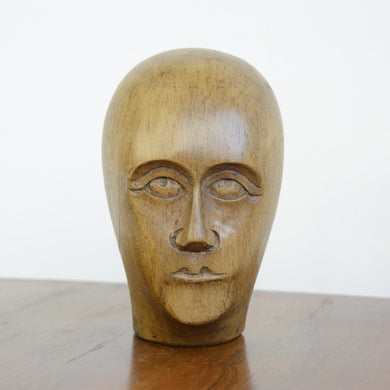 German Carved Wooden Milliners Head Circa 1910(AO1276)