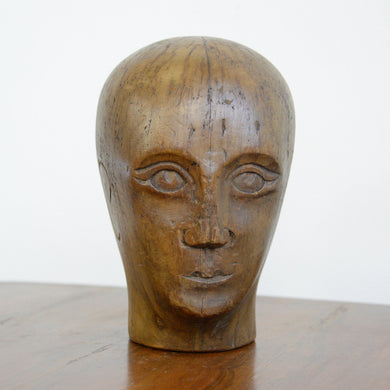 German Carved Wooden Milliners Head Circa 1910(AO1275)