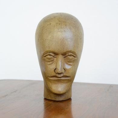 German Carved Wooden Milliners Head Circa 1910(AO1274)