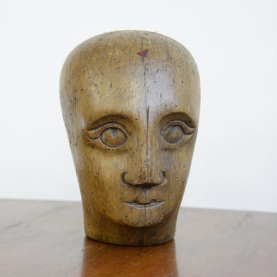 German Carved Wooden Milliners Head Circa 1910(AO1273)