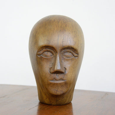 German Carved Wooden Milliners Head Circa 1910(AO1272)