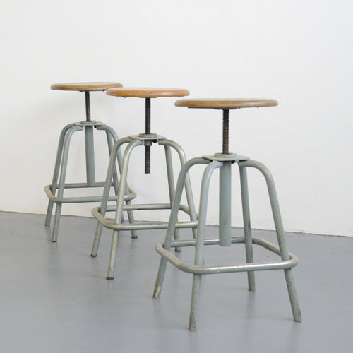 Height Adjustable Stools By L Sautereau Circa 1950s