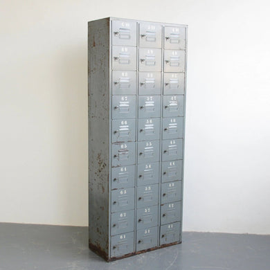 Industrial Pigeon Hole Lockers Circa 1940s