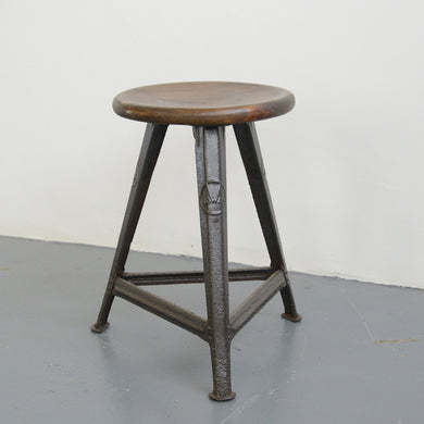 INDUSTRIAL STOOL BY ROWAC CIRCA 1920S-01173