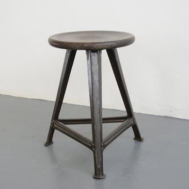 Industrial Stool By Rowac Circa 1920s-01172