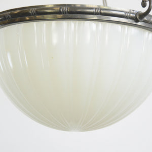 Jefferson Moonstone Pendant Light Circa 1920