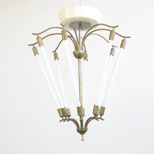 Load image into Gallery viewer, Large Bauhaus Lobby Chandelier Circa 1930s