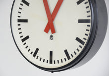Load image into Gallery viewer, Large Double Sided Factory Clock Circa 1950s