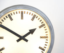 Load image into Gallery viewer, Large Double Sided Industrial Light Up Clock Circa 1960s