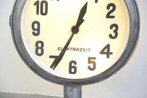 Large Double Sided Light Up Clock By Elektrozeit
