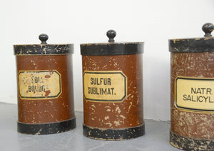 Large German Apothecary Jars Circa 1920s