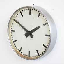 Load image into Gallery viewer, Large Industrial Clock Circa 1930s