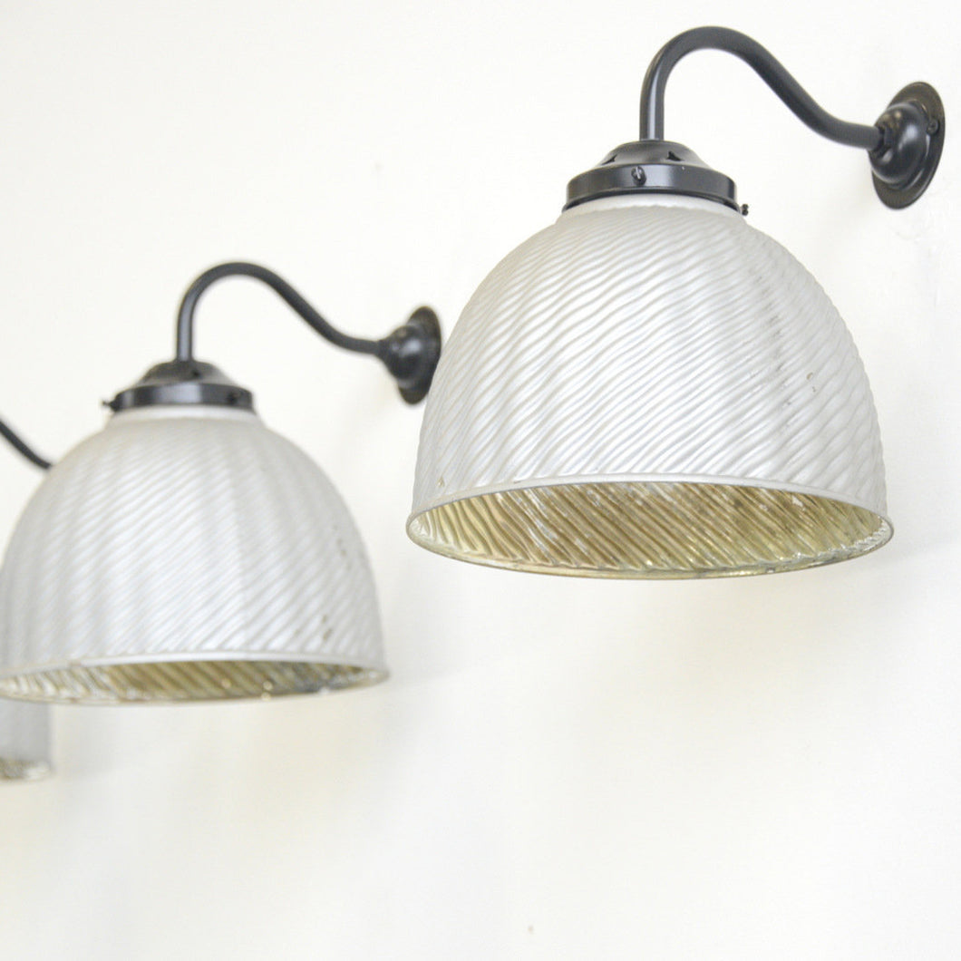 Large Wall Mounted Mercury Glass Lights Circa 1930s