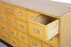 Light Oak Bakers Drawers Circa 1960s