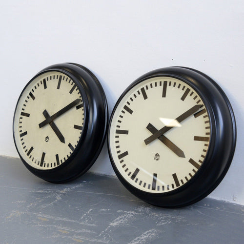 Modernist German Office Clocks Circa 1930s