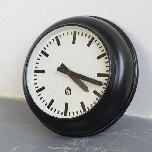 Modernist German Office Clock Circa 1930s-A01115