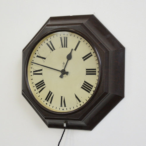 Octagonal Bakelite Post Office Clock Circa 1930s