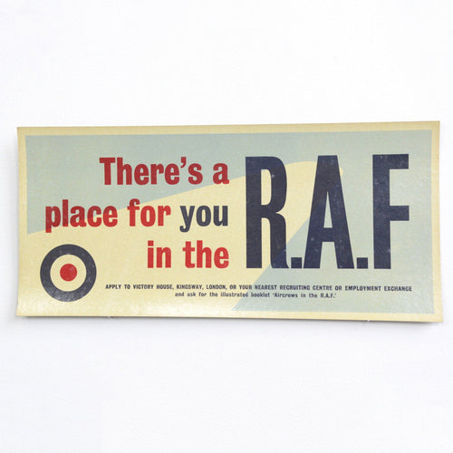 RAF Recruitment Signs Circa 1950s