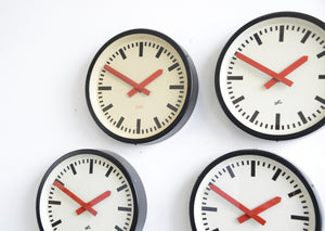 Red Handed Textile Factory Clocks Circa 1950s