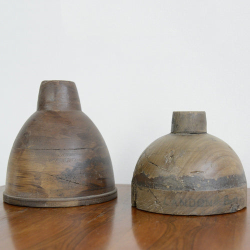 Wooden Industrial Lamp Shade Forms Circa 1930s