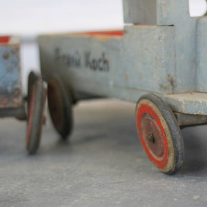 Large 1920s Wooden Children's Toy Truck