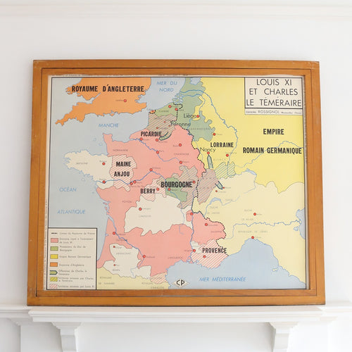 French Double Sided School Map by Rossignol - Joan of Arc