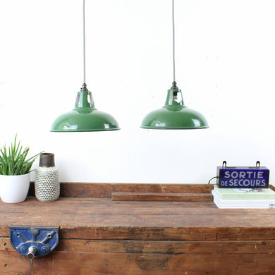 Small Vintage Industrial Factory light by Wardle