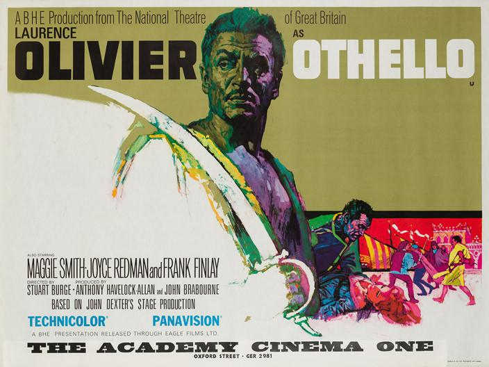 Othello 1965 original UK quad film movie poster Shakespeare