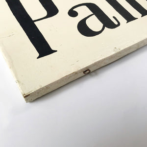 Vintage Hand Painted Sign c1950s